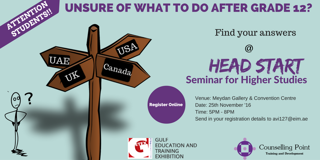 Counselling Point's Headstart for Higher Studies Seminar